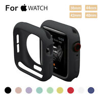 For Apple Watch Series 4 3 2 1 Bumper Silicone Protector Case Cover 38/42/44mm