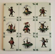 Antique Handpainted Delft Tile