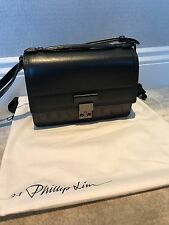 3.1 Phillip Lim Pashli Mini Messenger Leather Shoulder Bag (Black)