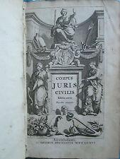 CORPORIS JURIS CIVILIS, Amsterdam, 1681. 2 volumes complet.