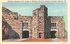 Wilmington, New York Whiteface Mountain Castle Curteich Linen 1950 Postcard