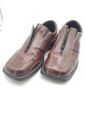 Tolo Mens Brown Zipper Slip On Loafers w/Thick Rubber Sole Size 9-M