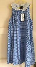 Magnifique Ralph Lauren Polo Bleu à Carreaux Robe * SZ 12 ANS * NEUF RRP £ 85