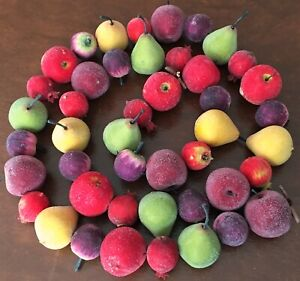 Beautiful Sugared Frosted Fruit Garland 6' Long Home Decor Christmas Crafting