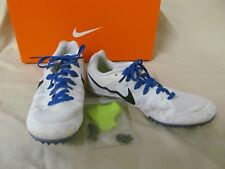 Used Men's 7 M Running Shoes Track Cleats Nike White/Blue Zoom Rival M 8 #806555