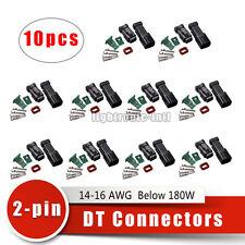 10 sets Black Deutsch DT Connectors Kit DT 2-Pin Male & Female Kits Adapters