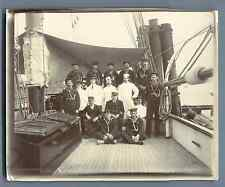 Crew of the Shenandoah Ship  Vintage citrate print.  Tirage citrate  10,5x13