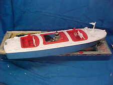 """Early 1960s Spitfire 21"""" Toy Gas Engine Speedboat w Orig Box by Spit-Craft"""