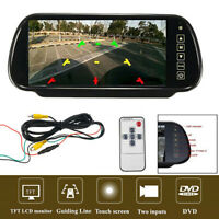 """7"""" TFT LCD Touch Screen Auto Car Reverse Camera 170° Rear View Parking Monitor"""