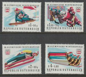 Austria 1975 #B331-34 12th Winter Olympic Games - MNH
