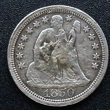 USA 1850 Seated Liberty Dime 10 Cent Philadelphia Selten Silber 2615