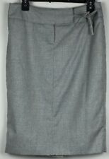 THE LIMITED Women's Skirt Gray Silver Shimmer Lined Size 6