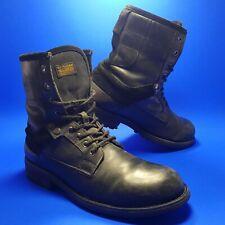 G-Star Originals Raw Mens Boots sz UK 8 Black Leather Patton GS Denim Shoes US 9