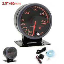 Universal Black Shell Red Needle Display Car 2.5'' LED Turbo Boost Meter Gauge