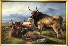 Robert Watson pintura al óleo originales Highland ganado