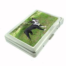 Dog Boston Terrier Cigarette Case w/ Built In Lighter Pet Puppy Black Cute