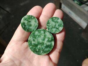 Wyoming Jade Rough Slab Core Wyoming Nephrite Jade Rough 3 Discs