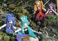 "Sea Angle mermaid cloth fabric rag doll sewing pattern 20 t0 24"" w/ tail"