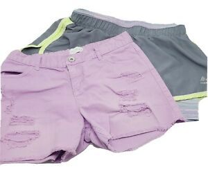 Girls Purple Justice Shorts & Rbx Active Wear Shorts Size 12 Girls