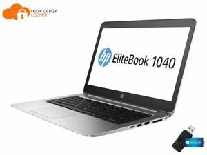 "HP EliteBook Folio 1040 G3 14"" Laptop i7-6600U 8GB RAM 256 SSD Win 10 FHD 4G LTE"