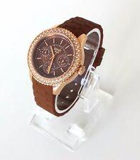 Esprit Damen Uhr Marin Glints Speed Brown braun Silikon Steine ES106222008