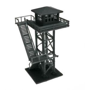 Outland Models Modelleisenbahn großer Wachturm schwarz Spur N 1:160