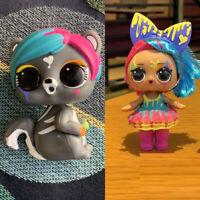 with Pet Lol Surprise Makeover Series Fuzzy Pets Eau De Splatters dolls toys