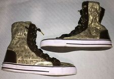 Ladies Size US 7.5 Baby Phat Hi-Top Logo Canvas Lace-Up Fashion Sneakers Stylish
