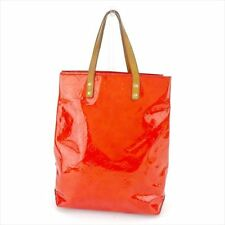 Louis Vuitton Tote bag Vernis Red Beige Woman Authentic Used T5516