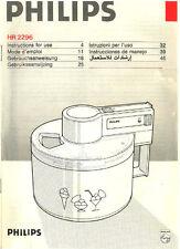 Bedienungsanleitung Rezepte Philips HR 2295 / 2296 Eismaschine Eiscrememaschine