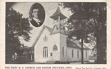 B76/ Sylvania Ohio Postcard 1909 M.E. Church Pastor 2View