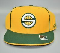 Seattle Sonics Supersonics Reebok NBA Men's Fitted Cap Hat - Size: 8