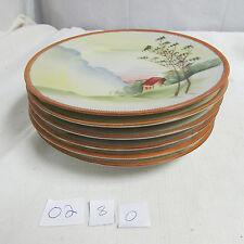 Beautiful Vintage Set of 6 Hand Painted Nippon Bread Dessert Plates