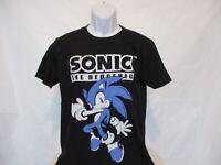 Sonic The Hedgehog Sega Game Movie Black T-Shirt Adult Sizes Medium - XL - NEW