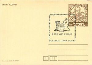 700 - Polonia - Annullo speciale Scacchi su intero postale, 03/08/1983