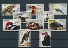 LM80429 Zaire animals fauna flora birds fine lot MNH