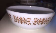 PYREX Tableware #708 Small Dessert Bowls Copper Filigree Excellent