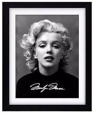 MARILYN MONROE Signature Print - Signed - Fully Framed - Wall Decor