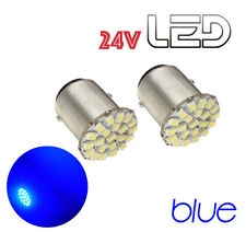 2 Ampoules P21W BA15s 22 LED Bleu Camion SCANIA IVECO MAN MERCEDES VOLVO DAF