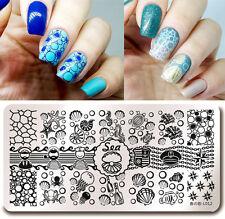 Nail Art Stamping Image Plate Stencil Sea Shell Starfish Design Harunouta-L012