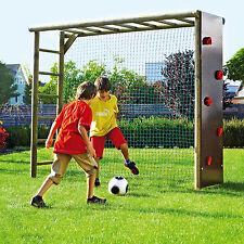 Fußballtor mit Kletterwand für Kinder Garten Fußballwand Spielturm Klettergerüst