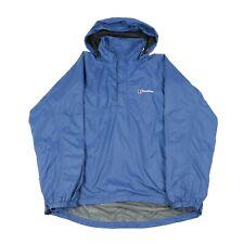 BERGHAUS 1/2 Zip Waterproof Anorak | Coat Rain Pullover 1/4 Cagoule Hood Vintage