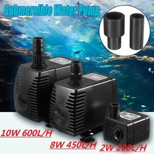 220V Submersible Fish Water Pump Pond Aquarium Tank Waterfall Fountain Pump UK