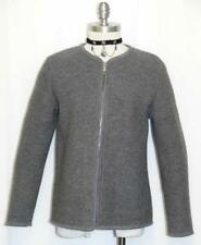 "BOILED WOOL GRAY SWEATER Jacket Women Austria German WINTER WARM WALK B38"" 8 S"