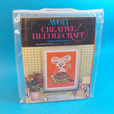 "Vtg 1970s Avon Creative Needlecraft ""Pals On Parade"" Turtle Mouse Crewel Kit Nos"