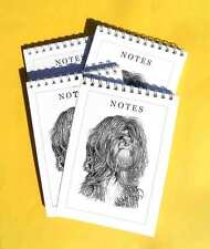 Tibetan Terrier Dog Pack of 4 A6 Note Pads Gift Set