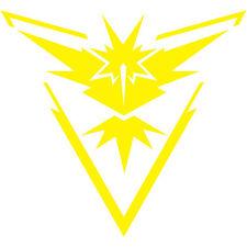 "Pokemon Go Team Instinct Yellow Logo 2"" Decal Sticker pokeball nerdy funny (2x)"