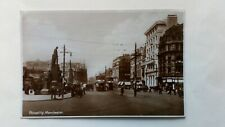MANCHESTER POSTCARD posted 1929 PICCADILLY SHOWING TRAMS