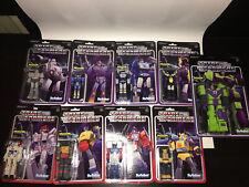 Transformers Reaction Super7 Megatron Soundwave Devastator Grimlock Optimus Lot