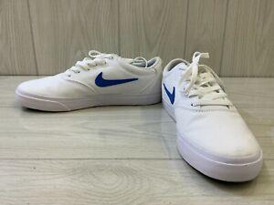 Nike SB Charge Solarsoft Canvas CD6279-104 Skate Shoe - Men's Size 9.5, White